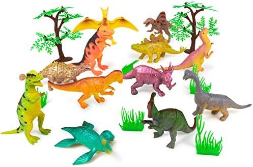 """Assorted Color Vinyl Dinosaurs 2 1//2/"""" Party Favors Cake Topper Dino Parties 72"""
