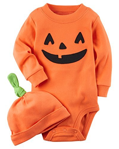 Carter's 2-Piece Pumpkin Hat and Collectible Bodysuit 18 Months