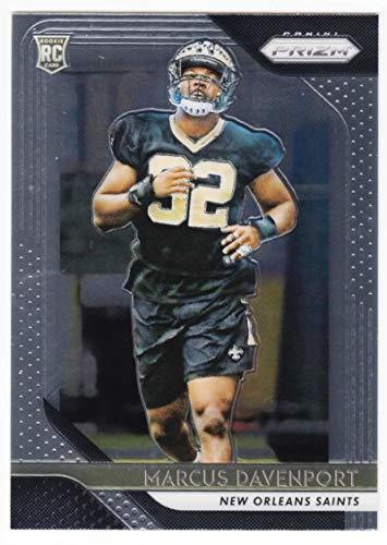 Verzamelkaarten, ruilkaarten 2018 Panini XR Blue #117 Rookies Marcus Davenport New Orleans Saints Rookie Card Amerikaans voetbal