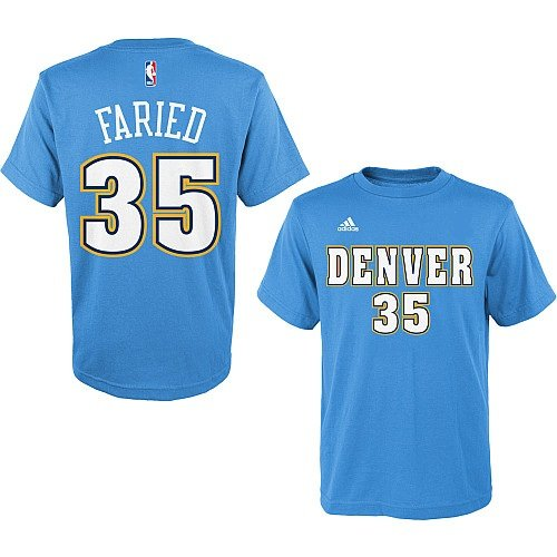 Kenneth Faried Denver Nuggets #35 NBA Youth Name & Number T-Shirt Blue (Youth Medium 10/12)
