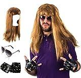 Tigerdoe Rockstar Costume Adult - 90's Rocker Wig - Rock Costume - Heavy Metal Rocker - Punk Costume by