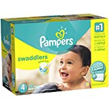 'Pampers Swaddlers Disposable Diapers Size Size 4 (22–37 lb), 164 Count (One Month Supply)' from the web at 'https://images-na.ssl-images-amazon.com/images/I/51pgxNnLNwL._AC_SR160,160_.jpg'