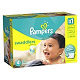 Pampers Swaddlers Disposable Diapers Size 4, 164 Count, ONE MONTH SUPPLY