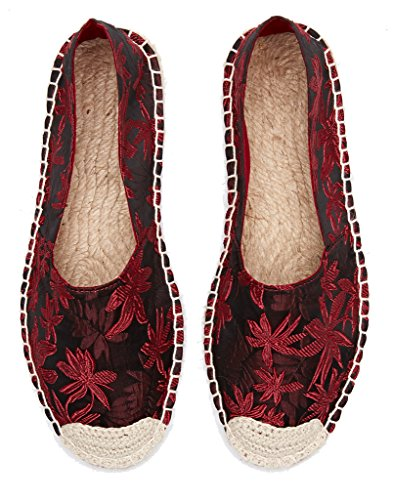U-lite Mocassino Forales Espadrillas Stampato Donna Scarpe Slip-on Mocassino Rosso