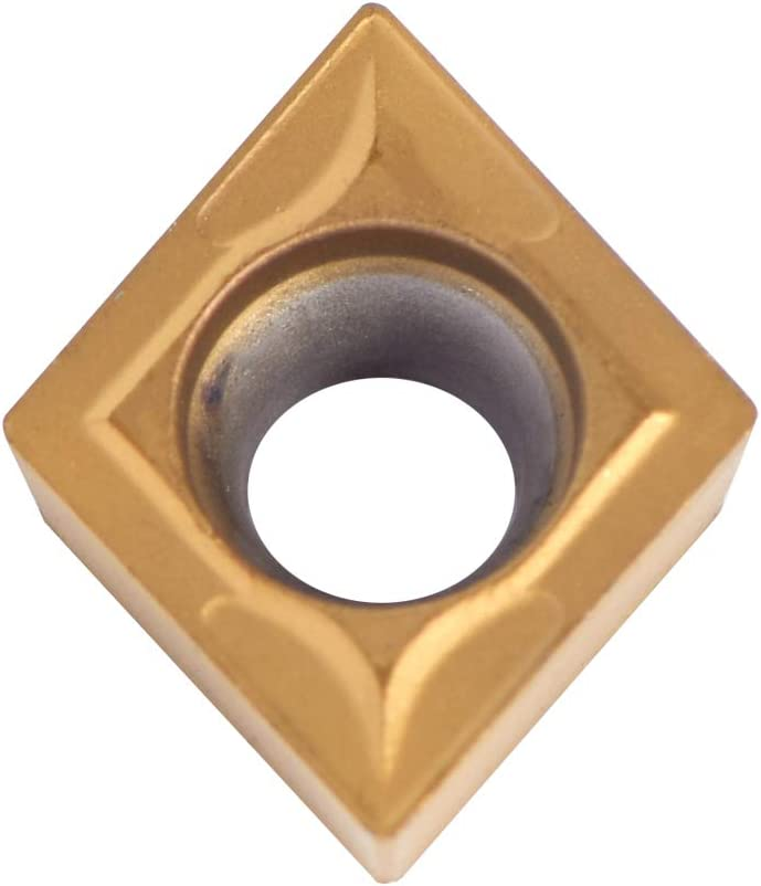 Fydun Insertos de puntas de carburo CNC 10 piezas Insertos de carburo Herramienta de torneado de torno de cuchilla con caja