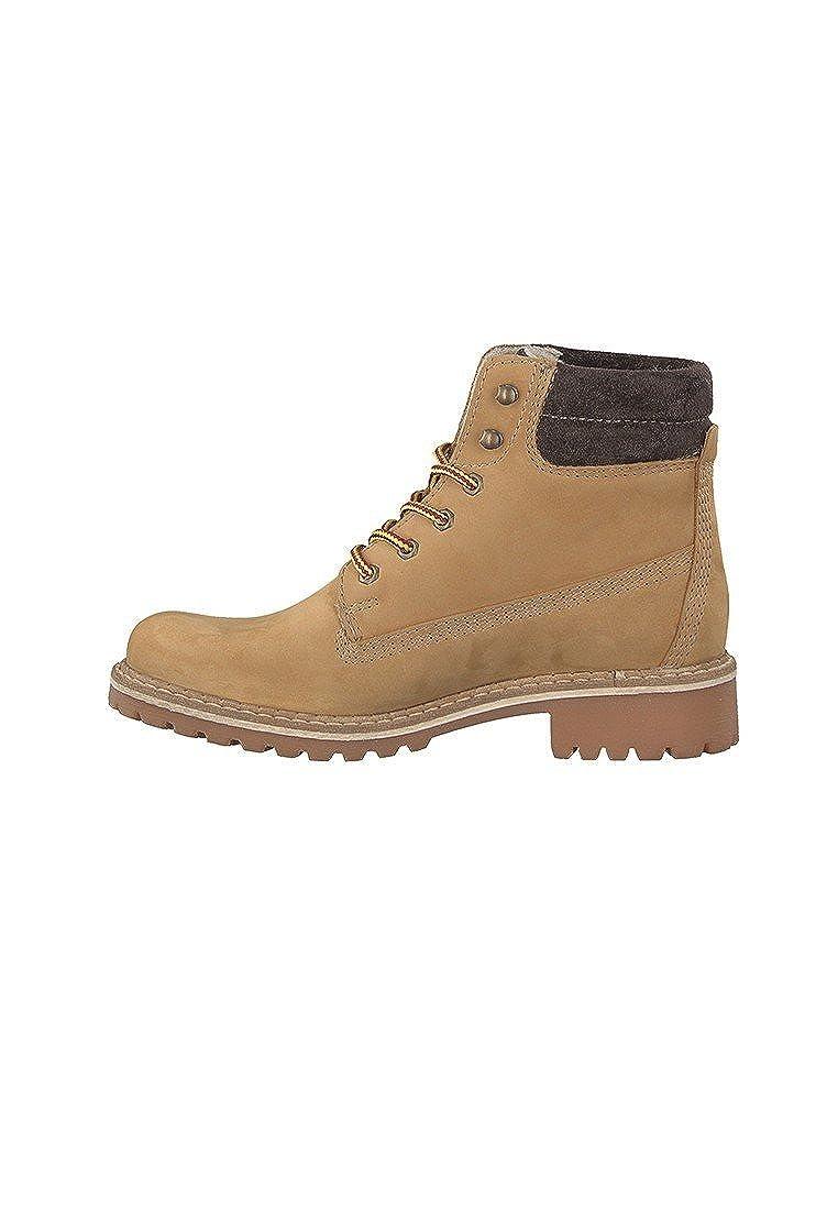 97b858acc0f6b1 Tamaris Derb- Elegante Schnürschuhe Stiefelette Boots Beige Gelb 1-25242-29  613 Corn Nubuc  Amazon.de  Schuhe   Handtaschen