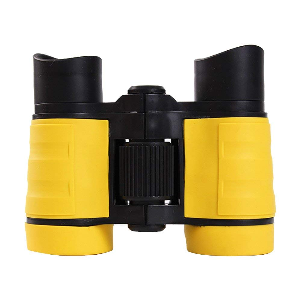 Yevison Children's Binoculars Set Compact Mini Rubber Telescopes for kids Bird Watching, Educational Learning, Hiking,Birthday Gifts for Children yellow Durable and Useful