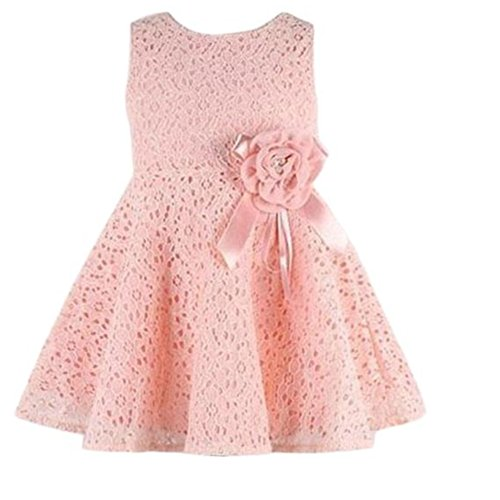 Misaky Girls Kids Full Lace Floral One Piece Dress Princess Party Dress (130(Age:6-7Y), (Quote Kids Hoodie)