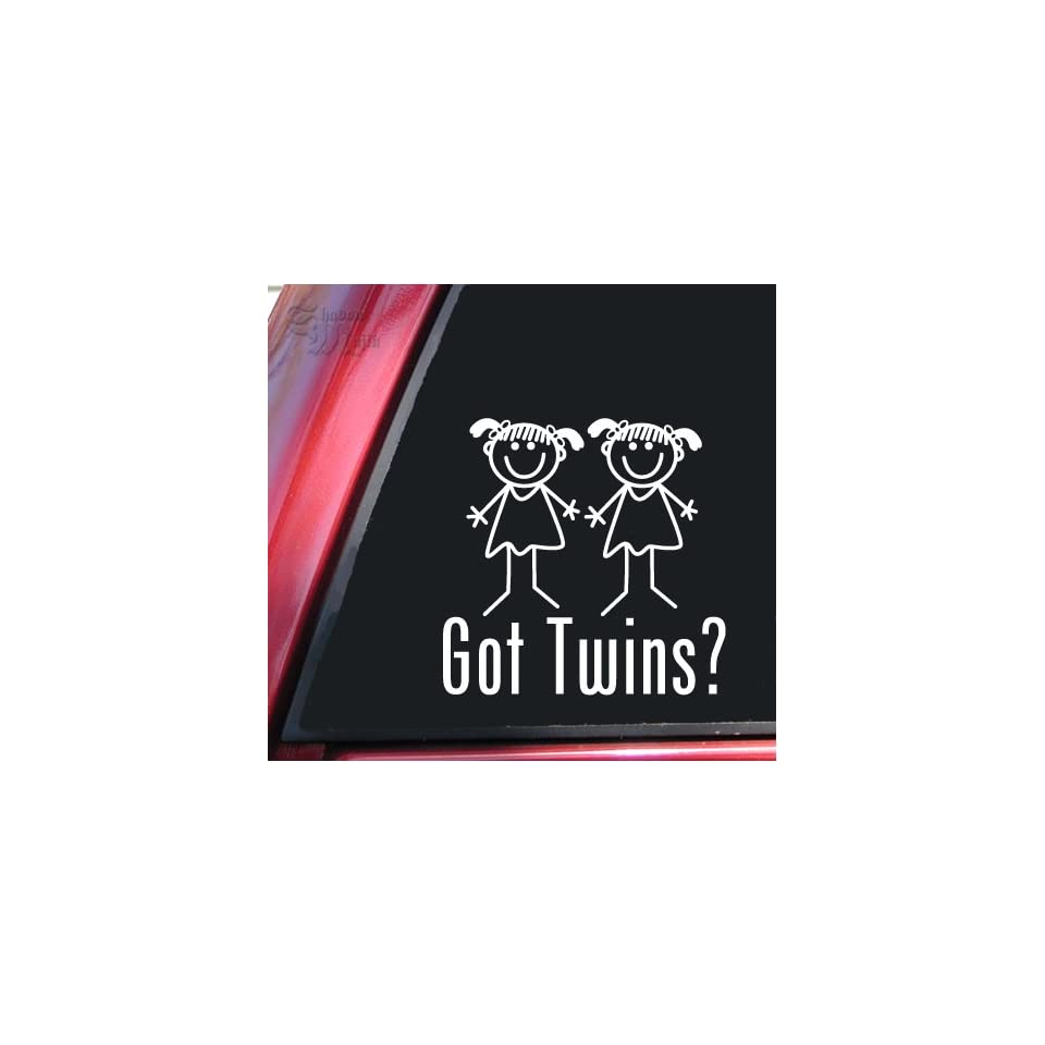 Got Twins? Girl/Girl White Vinyl Decal Sticker