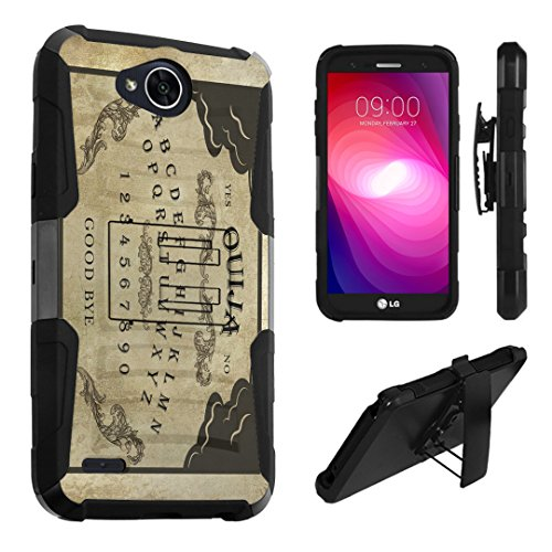 LG X Power 2 Case, LG Fiesta Case, LG X Charge Case, DuroCase Dual Layer Kickstand Case Holster for LG X Power 2 / Fiesta LTE / X Charge / K10 Power / LV7 - (Ouija Board) -