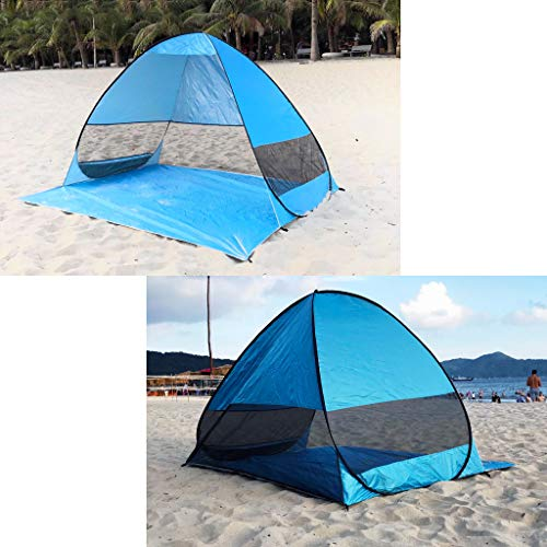 Chenway Small Beach Tent Sun Shelter Pop Up for Camping 2 Person with UV Protection Outdoor Instant Portable Cabana [Ship from USA - Person Tent Spring