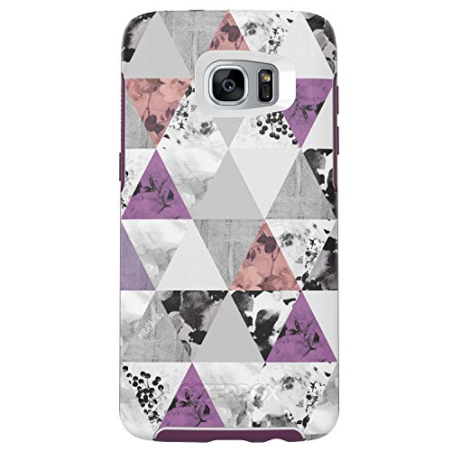 OtterBox Symmetry Series Case for Samsung Galaxy S7 Edge, Perfected Angles (White/Damson Purple/Graphic) - Standard Packaging