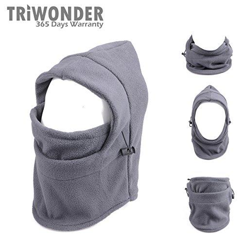 Triwonder 6 in 1 Thermal Fleece Balaclava Hood Police Swat Ski Bike Wind Stopper Mask (Grey) (Running Hood compare prices)