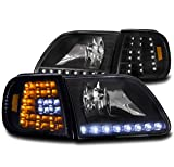 ZMAUTOPARTS Ford EXpedition LED Head Light+Corner Black