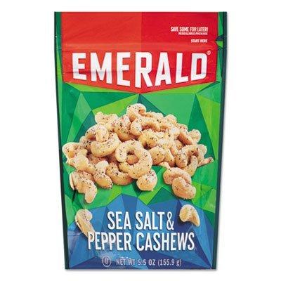 Emerald Salt & Pepper Cashews, (4 PACK) Salt Cashew