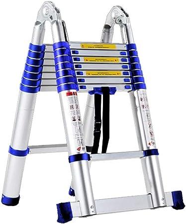 DZWSD Escalera Telescópica de Aluminio Escalera de Mano Escalera de extensión Escalera de Techo Escalera portátil estabilizador de Escalera Capacidad de Carga de 150 kg: Amazon.es: Hogar