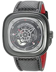 SEVENFRIDAY Men's P3-1 RACER Analog Display Japanese Automatic Black Watch by SEVENFRIDAY