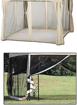 Set zanzariere per gazebi moschiera universale 300x300 cm: Amazon ...