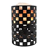 Himalayan Glow Natural Himalayan Salt Lamp in Projective Design Metal Basket with Dimmable Cord