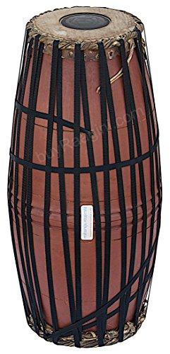 Maharaja Musicals Mridangam, Jack Fruit Wood, South Indian Mridangam Drum, Strap-tuned, Tuneable To D Sharp, Drumhead Covers, Nylon Bag, Mridanga/Mridangam Instrument -