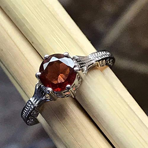 Gorgeous Natural 1ct Pyrope Garnet 925 Sterling Silver Victorian Filigree Ring sz 6, 8, 8.25, 8.75, ()