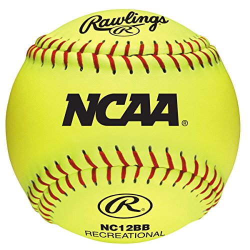 Rawlings NCAA Recreational Softballs, 12 Count