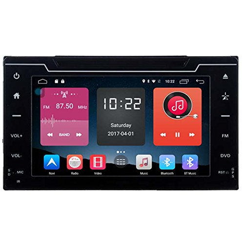 Autosion In Dash Android 6.0 Car DVD Player Sat Nav Radio Head Unit GPS Navigation Stereo for Toyota Corolla Auris 2017 2018 4G Support Bluetooth SD USB Radio WIFI DVR 1080P by Autosion