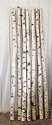 Decorative Birch Poles 8 Ft. (4 Poles 1 - 1 1/2 Inch Diameter)