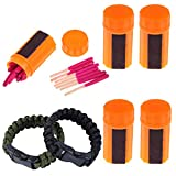 Ezyoutdoor 20 Pieces/Box Portable Windproof Waterproof Survival Lighter Matches Storm Emergency Camping(5 Boxes)