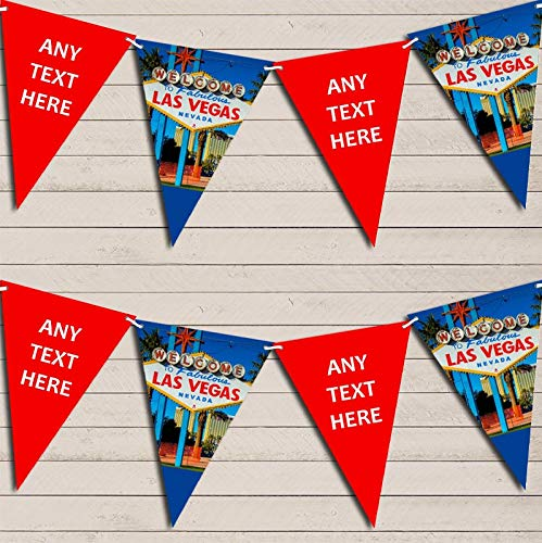 Blue Red Las Vegas Wedding Day Married Bunting Garland Party Venue Decoration Party Flag Banner Garland