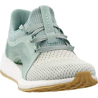 adidas Women's Pureboost X Clima Running Shoe (8.5 B(M) US, Ash Green/Silver Met/White Tint)