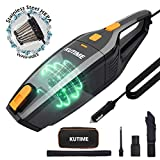 KUTIME Corded Car Vacuum Cleaner High Power Wet Dry Vac, DC 12V Portable