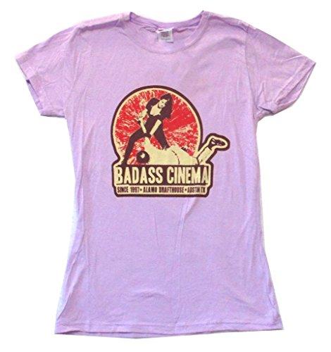 Death Proof Badass Cinema Austin TX Purple Girls Juniors Shirt Grindhouse (XL)
