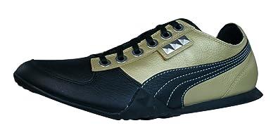 Details zu Puma Biker 5000 M2 Herren Leder Turnschuhe Sneaker Gold