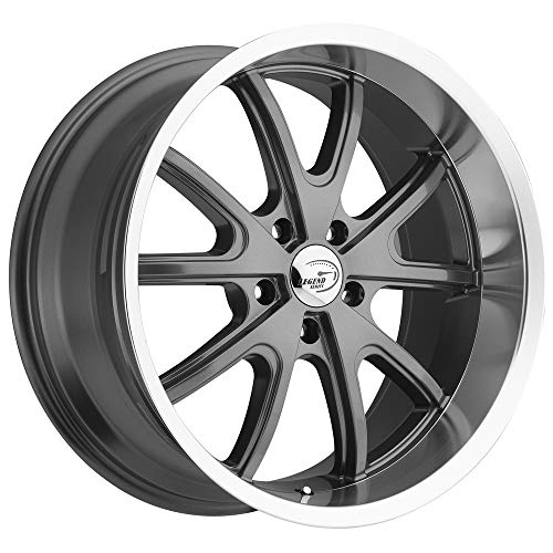 Vision 143 TORQUE Gunmetal Machined Lip Wheel with Machined Finish - Lip Machined Wheels