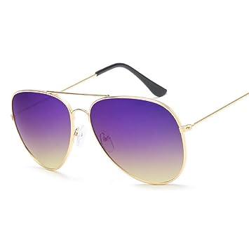 LETAM Gafas de sol Ocean Pilot Sunglasses Mujer Marca Metal ...