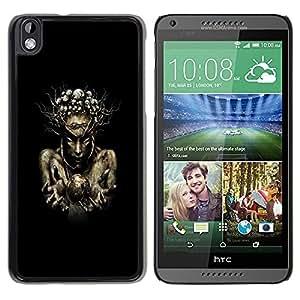 Be Good Phone Accessory // Dura Cáscara cubierta Protectora Caso Carcasa Funda de Protección para HTC DESIRE 816 // Nature Wood Sorcerer