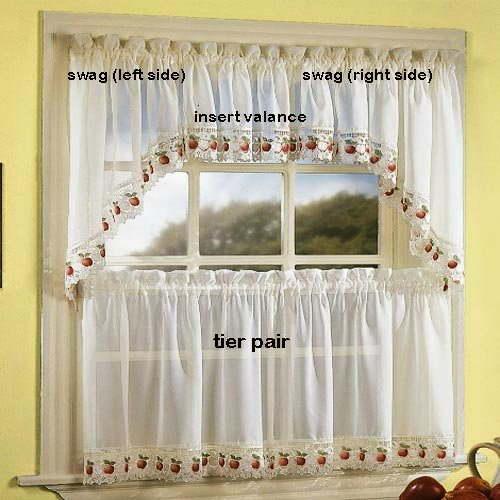 Apple Orchard Kitchen Curtain - Swag (pr)