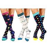 Compression Socks For Women Men 20-25mmHg-Best Medical, Nursing, Travel & Flight Socks (S/M, STYLE6)