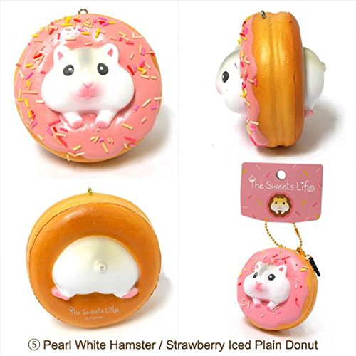 Squishy Ball With Holes : The Sweet Life Series Squishy Soft Kawaii Donuts Bread Bun Squishy Toys Stress Ball, Ball Chain ...