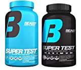 Beast Sports Nutrition Test Stack - Super Test Maximum (120 Capsules) & Super Test Original (180 Capsules)-Test Booster Combination to Build Powerful Lean Muscle, Burn Fat & Increase Strength & Energy