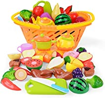 NextX Play Food, Cutting Fruits and Vegetables Educational Toys, Pretend Toy Food Set for Toddlers 6 to 12 Months, Toy...