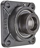 Hub City FB220DRWX1-1/2 Flange Block Mounted Bearing, 4 Bolt, Normal Duty, Relube, Eccentric Locking Collar, Wide Inner Race, Ductile Housing, 1-1/2