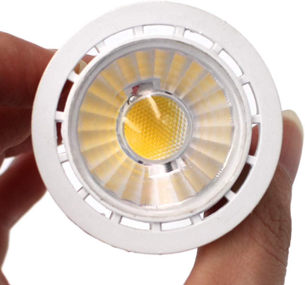 4pcs 36 Degree Beam Angle 50W Halogen Equivalent Non-Dimmable 3000K Warm White MR16 GU5.3 Bi-Pin Base LED Light Bulbs5W 12V LED Bulbs 450lm Christmas LED Spotlight Bulbs