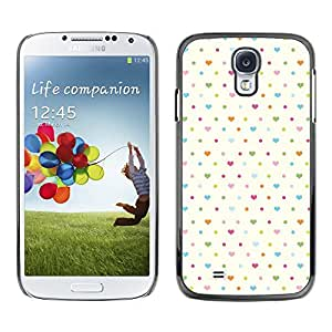 Plastic Shell Protective Case Cover || Samsung Galaxy S4 I9500 || Heart White Baby Blue Clean @XPTECH