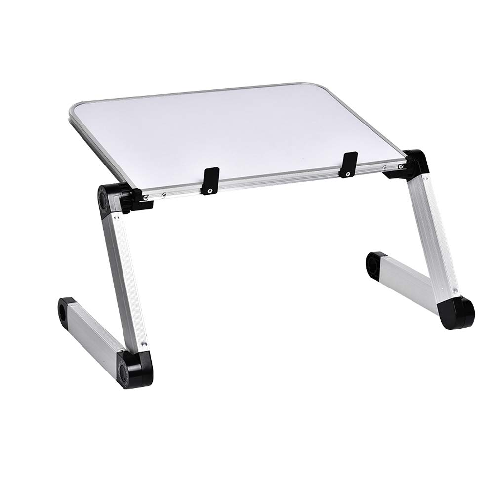Portable Adjustable Aluminum Laptop Stand/Desk, Comfortable Knee Tray Bed Reading, Comfortable Office by VKKU