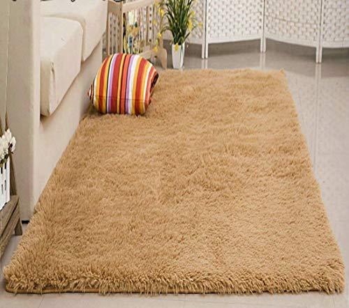 Kong Eu Large Soft Anti Skid Carpet Floor Mat Shaggy Rug Living Room Bedroom Decor Thick Khaki 80 160cm Buy Online In Gibraltar At Gibraltar Desertcart Com Productid 83416024