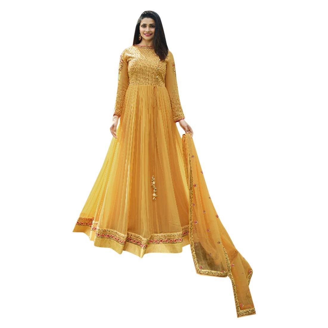 Amazon.com: Anarkali Salwar Kameez - Traje con flores ...