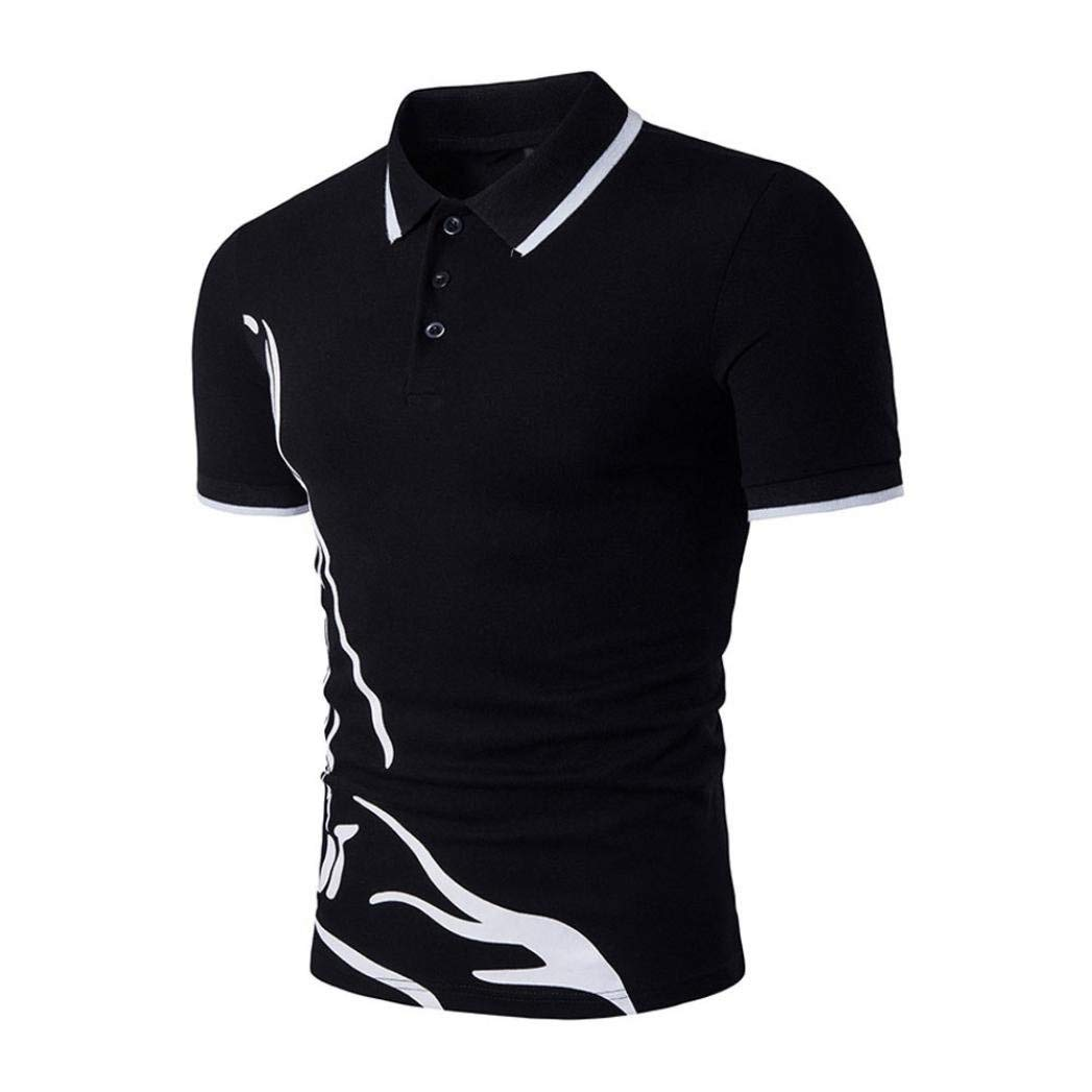 00b5fc2cba8 Top1  Forthery Men Polo Shirts Short Sleeve Slim Sports Henley T-Shirt  Clearance Sale