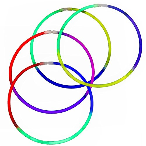Fun Central I39 22 Inch Premium Glow Necklaces - Assorted Tricolor Mix 50ct